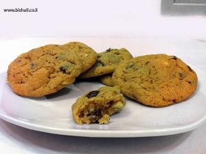עוגיות שוקולד צ'יפ וחמאת בוטנים - 2