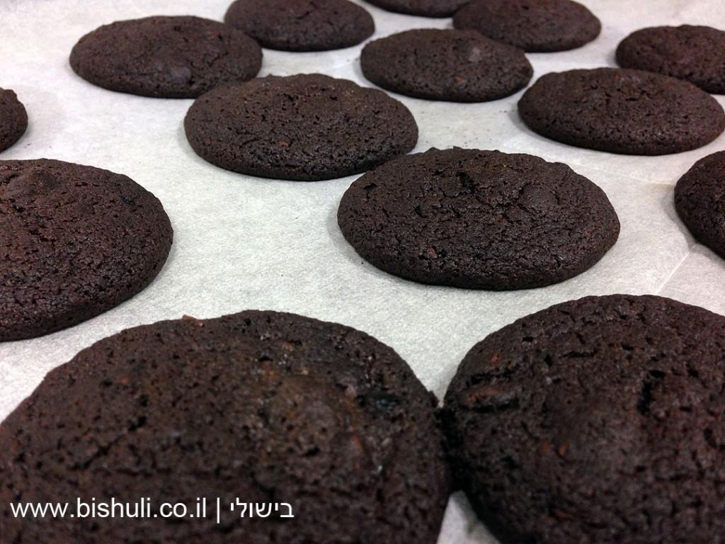 עוגיות שוקולד צ'יפס שחורות - חם מהתנור