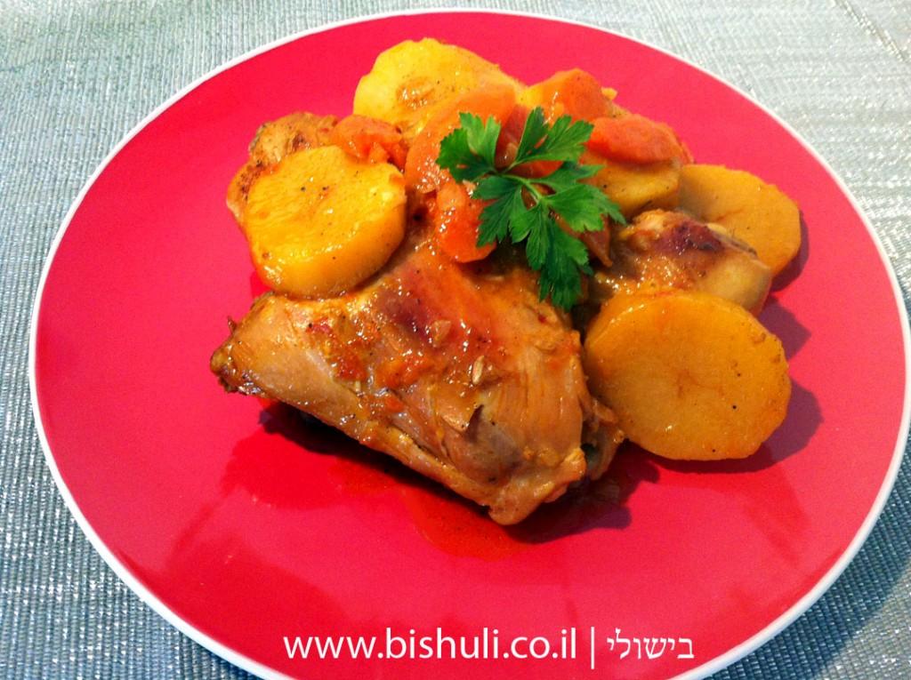 תבשיל עוף עם תפוחי אדמה