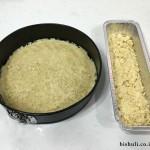עוגת פירורים - לפני אפייה