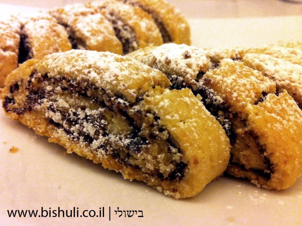 עוגיות רולדה פריכות עם שוקולד