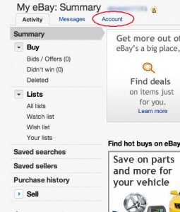 My eBay Account