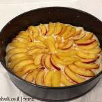 עוגת אפרסקים - סידור האפרסקים / נקטרינות