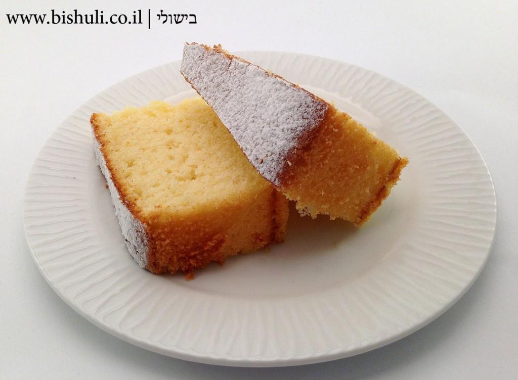 עוגת לימון - פרוסה של עוגת לימון מעולה