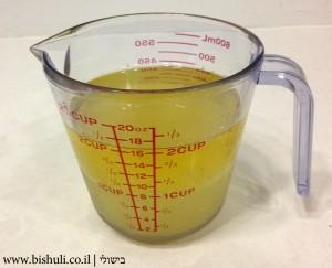 שמן לימון ומים