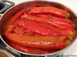 פלפל שושקה ממולא - בישול הממולאים 2