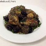 תבשיל עוף בבצל וזיתי קלמטה