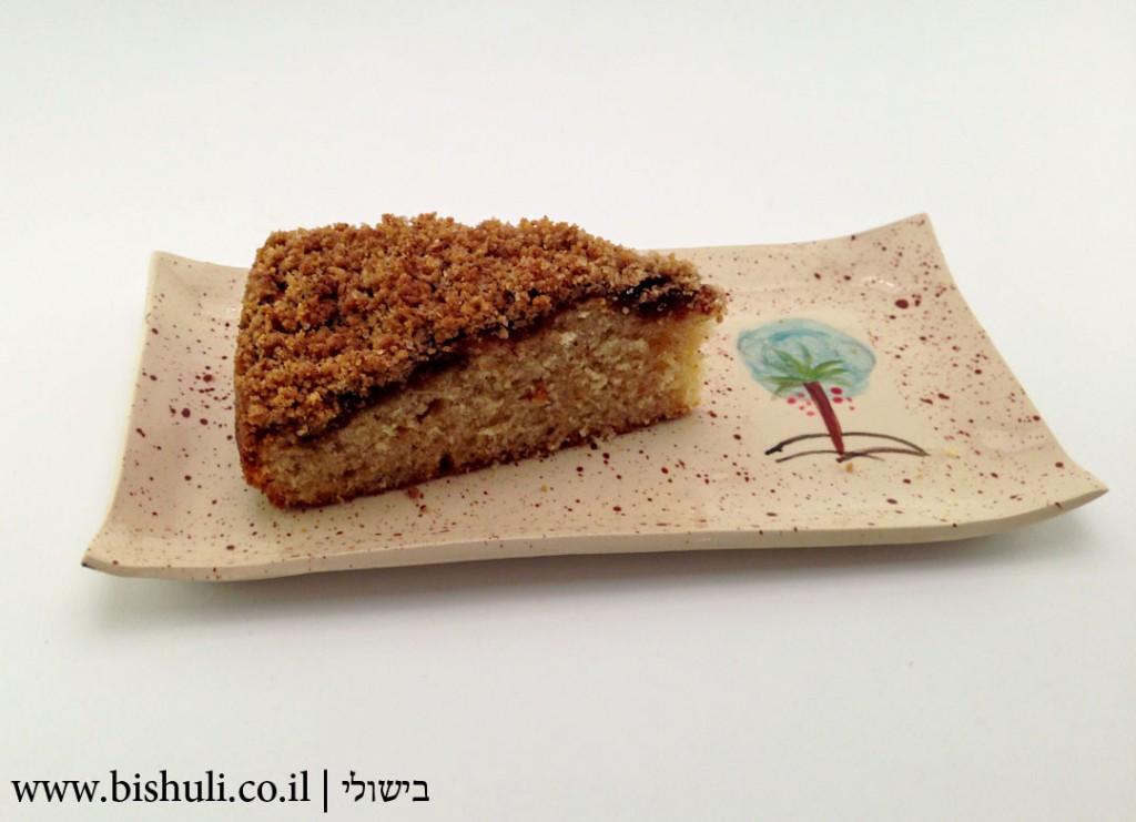 עוגת תמרים עם שטרויזל