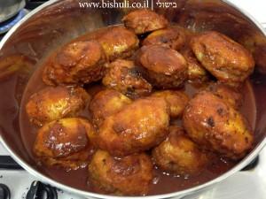 מפרום - הוספת הרוטב לפני בישול