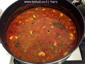תבשיל בשר - סיום הבישול