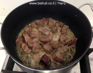 תבשיל בשר - טיגון הבשר