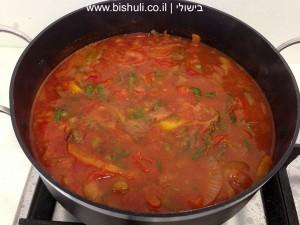 תבשיל בשר - לפני הבישול