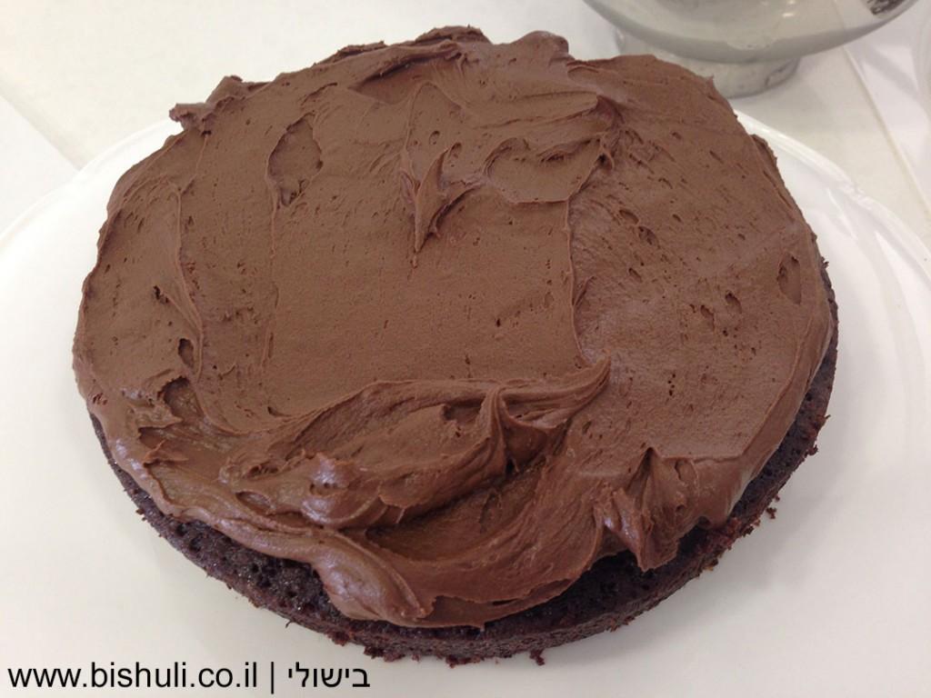 ציפוי שוקולד פרווה לעוגה