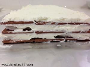 סיום הכנת שכבות העוגה