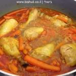 תבשיל עוף בבצל וגזר גמדי - לאחר בישול