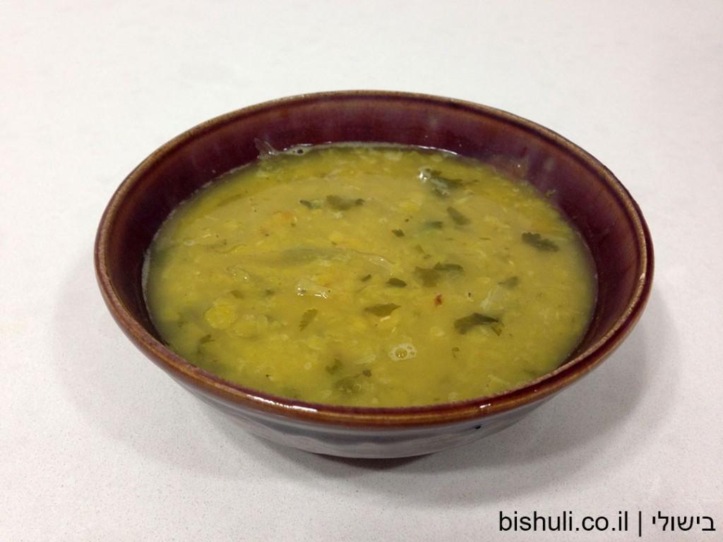 מרק עדשים צהוב