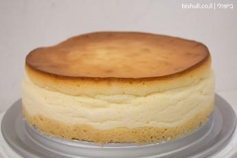 עוגת גבינה אפויה - מבט מקרוב