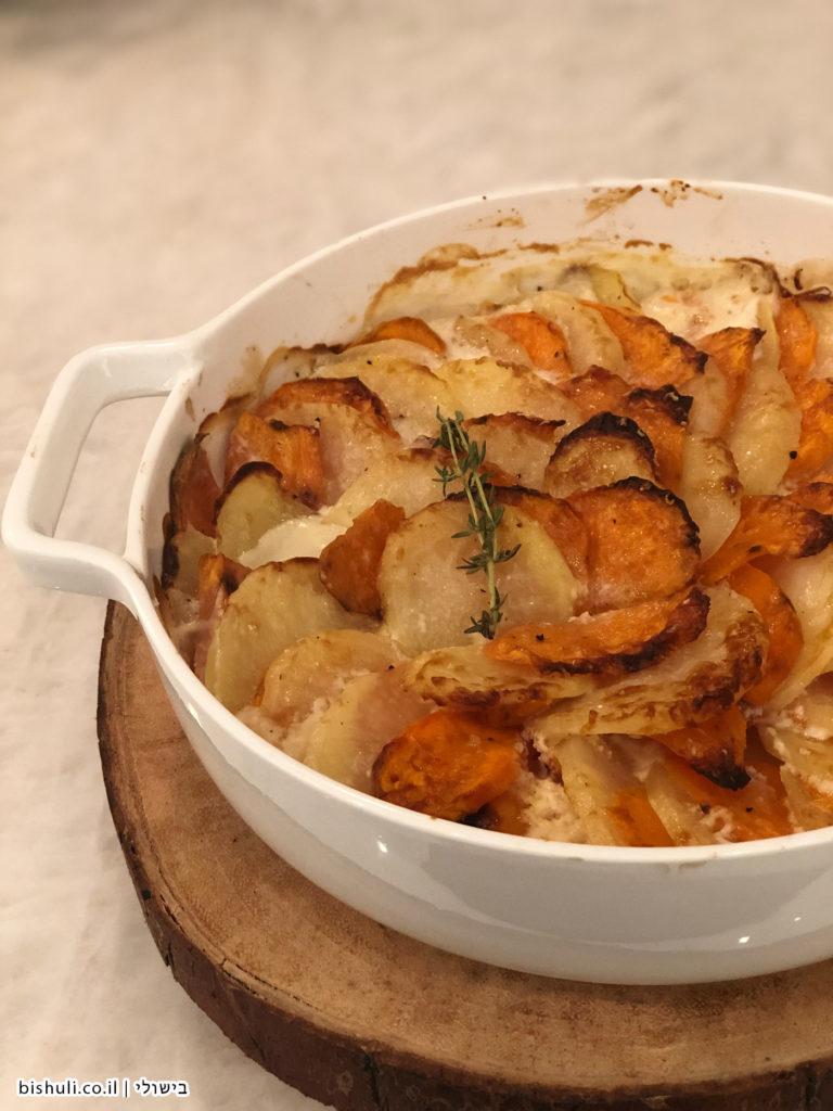 גראטן תפוחי אדמה ובטטה